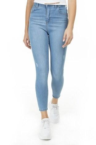 Lela Yüksek Bel Skinny Pamuklu Jeans Bayan Kot Pantolon 58713261 KOYU BUZ