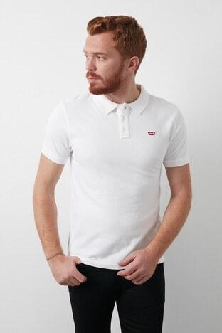 Levis % 100 Pamuk Düğmeli T Shirt Erkek Polo 24574-0000 BEYAZ