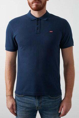 Levis % 100 Pamuk Düğmeli T Shirt Erkek Polo 24574-0002 LACİVERT