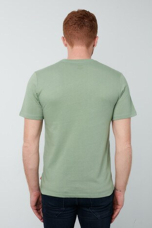 Levis % 100 Pamuklu Baskılı Bisiklet Yaka Erkek T Shirt 22489-0338 YEŞİL