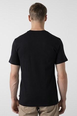 Levis % 100 Pamuklu Baskılı Bisiklet Yaka Regular Fit Erkek T Shirt 22491-0733 SİYAH