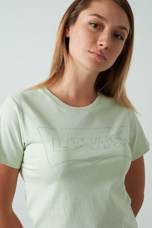 Levis % 100 Pamuklu Bisiklet Yaka Bayan T Shirt 17369-1330 YEŞİL