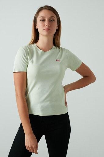 Levis % 100 Pamuklu Bisiklet Yaka Bayan T Shirt 37697-0015 YEŞİL