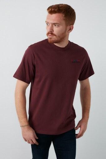 Levis % 100 Pamuklu Bisiklet Yaka Erkek T Shirt 86823-0003 BORDO