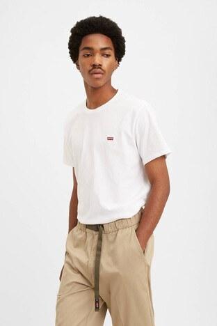 Levi's - Levis % 100 Pamuklu Bisiklet Yaka Regular Fit Erkek T Shirt 56605-0000 BEYAZ