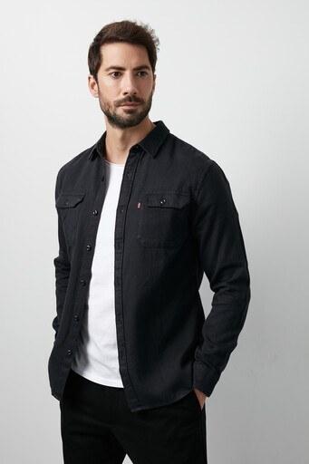 Levis % 100 Pamuklu Çift Cepli Erkek Gömlek 19573-0117 SİYAH