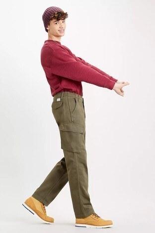 Levis % 100 Pamuklu Loose Fit XX Taper Erkek Pantolon 39440-0011 HAKİ