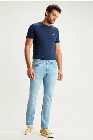 Levi's - Levis % 100 Pamuklu Regular Fit 501 Jeans Erkek Kot Pantolon 005013051 AÇIK MAVİ