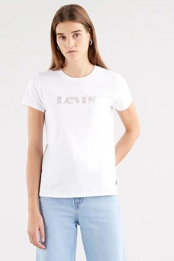 Levis % 100 Pamuklu Regular Fit Bisiklet Yaka Bayan T Shirt 17369-1433 BEYAZ