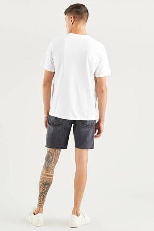 Levis % 100 Pamuklu Relaxed Fit Bisiklet Yaka Erkek T Shirt 16143-0225 BEYAZ