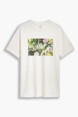 Levis % 100 Pamuklu Relaxed Fit Erkek T Shirt 16143-0006 BEJ