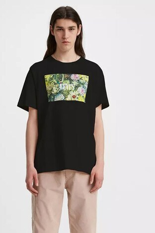 Levis % 100 Pamuklu Relaxed Fit Erkek T Shirt 16143-0007 SİYAH