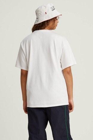 Levis % 100 Pamuklu Snoopy Baskılı Oversize Bayan T Shirt 56152-0003 EKRU