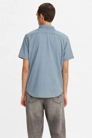 Levis % 100 Pamuklu Standart Fit Kısa Kollu Erkek Kot Gömlek 86627-0039 AÇIK MAVİ