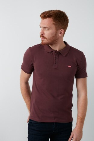 Levi's - Levis % 100 Pamuklu T Shirt Erkek Polo 22401-0136 MÜRDÜM