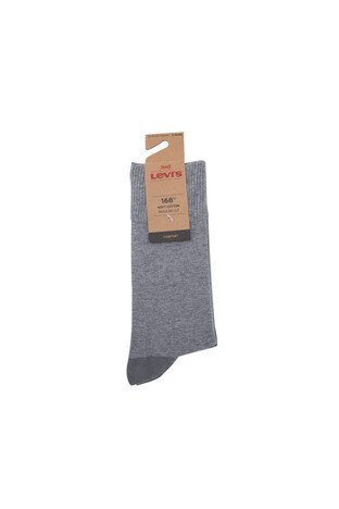 Levis 2 Pack Erkek Çorap 77319-0886 Gri-Açık Gri