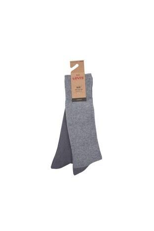 Levi's - Levis 2 Pack Erkek Çorap 77319-0894 Gri-Açık Gri