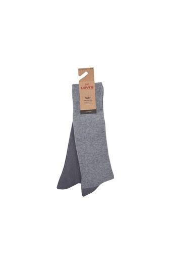 Levis 2 Pack Erkek Çorap 77319-0894 Gri-Açık Gri