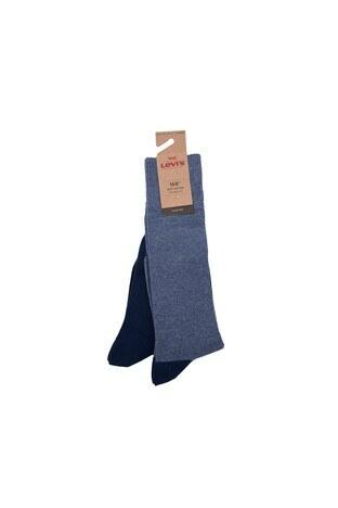 Levi's - Levis 2 Pack Erkek Çorap 77319-0895 Lacivert-Açık Lacive