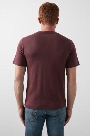 Levis Baskılı Bisiklet Yaka % 100 Pamuk Erkek T Shirt 22489-0335 BORDO