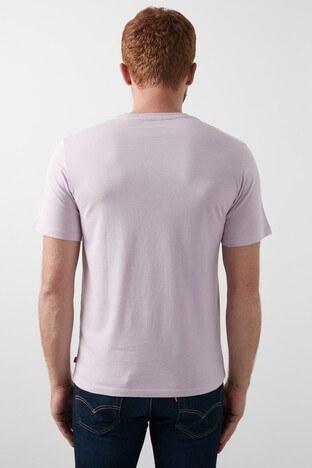 Levis Baskılı Bisiklet Yaka % 100 Pamuk Erkek T Shirt 22489-0339 LİLA