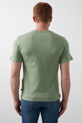 Levis Baskılı Bisiklet Yaka % 100 Pamuk Erkek T Shirt 85785-0028 YEŞİL