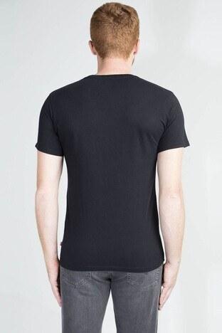 Levis Baskılı Bisiklet Yaka % 100 Pamuklu Erkek T Shirt 17783-0137 SİYAH