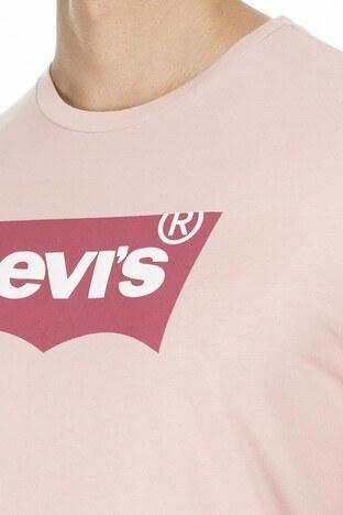 Levis Baskılı Bisiklet Yaka Erkek T Shirt 22489-0259 GÜL KURUSU