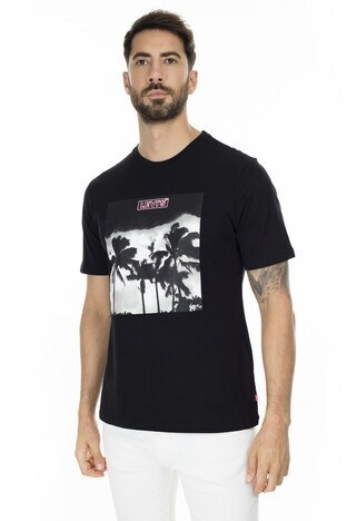 Levi's - Levis Baskılı Bisiklet Yaka Erkek T Shirt 22491-0644 SİYAH