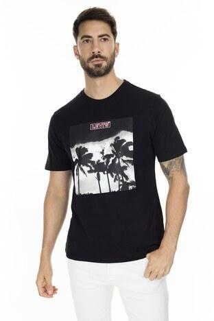 Levis Baskılı Bisiklet Yaka Erkek T Shirt 22491-0644 SİYAH
