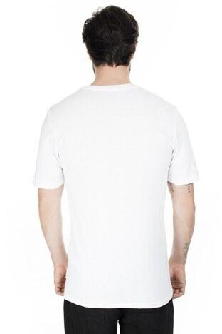 Levis Baskılı Bisiklet Yaka Erkek T Shirt 39636-0029 BEYAZ