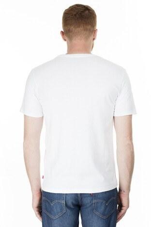 Levis Baskılı Bisiklet Yaka Erkek T Shirt 39636-0032 BEYAZ