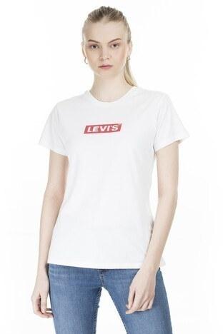 Levi's - Levis Baskılı Bisiklet Yaka Bayan T Shirt 17369-0903 BEYAZ