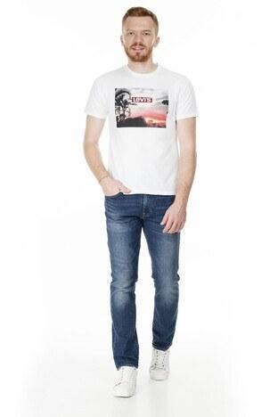 Levis Baskılı Bisiklet Yaka Regular Fit Erkek T Shirt 22491-0640 BEYAZ