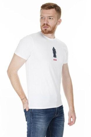 Levis Baskılı Bisiklet Yaka Regular Fit Erkek T Shirt 22491-0683 BEYAZ