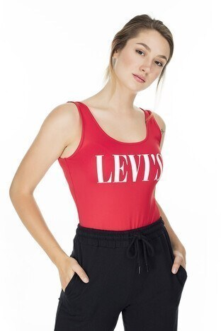 Levis Baskılı Kadın Body 57787-0015 KIRMIZI