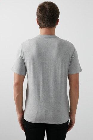 Levis Baskılı Pamuklu Bisiklet Yaka Erkek T Shirt 22489-0332 GRİ