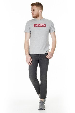 Levis Bisiklet Yaka Erkek T Shirt 22491-0463 GRİ