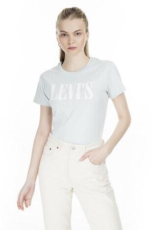 Levis Bisiklet Yaka Kadın T Shirt 17369-0782 AÇIK YEŞİL