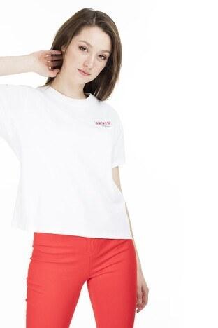 Levis Bisiklet Yaka Kadın T Shirt 69973-0076 BEYAZ