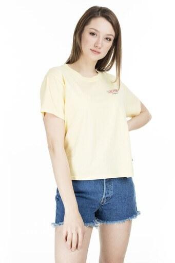 Levis Bisiklet Yaka Kadın T Shirt 69973-0077 SARI