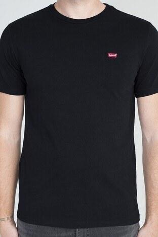 Levis Logo Baskılı Bisiklet Yaka % 100 Pamuklu Erkek T Shirt 56605-0009 SİYAH