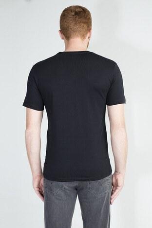 Levis Logo Baskılı Bisiklet Yaka % 100 Pamuklu Erkek T Shirt 85785-0002 SİYAH
