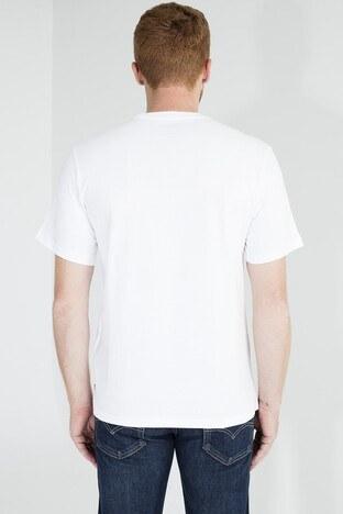 Levis Logo Baskılı Bisiklet Yaka Rahat Kesim Erkek T Shirt 161430055 BEYAZ