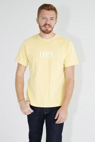 Levis Logo Baskılı Bisiklet Yaka Rahat Kesim Erkek T Shirt 161430057 SARI