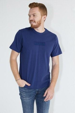 Levis Logo Baskılı Bisiklet Yaka Rahat Kesim Erkek T Shirt 161430058 LACİVERT