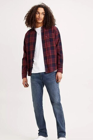 Levis Pamuklu Regular Fit 514 Jeans Erkek Kot Pantolon 00514-1447 İNDİGO