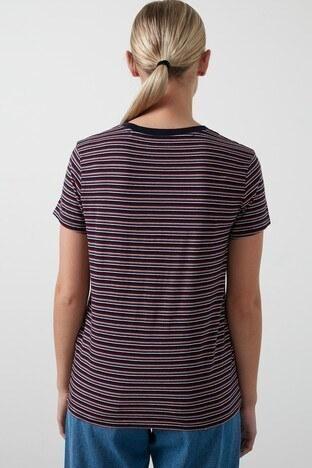 Levis Pamuklu Regular Fit Bayan T Shirt 39185-0102 LACİVERT-PEMBE