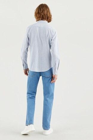 Levis Pamuklu Slim Fit Çizgili Erkek Gömlek 86619-0041 MAVİ