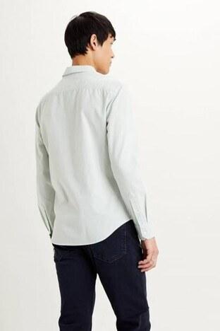 Levis Pamuklu Slim Fit Erkek Gömlek 86625-0008 YEŞİL